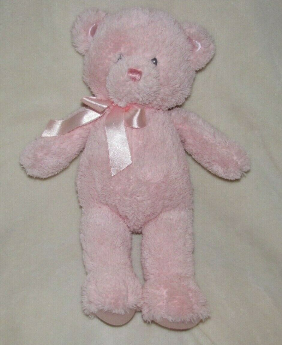 "Primary image for BABY GUND 14"" Plush MY FIRST TEDDY Bear PINK 21029 Medium Sewn Eyes Satin Feet"