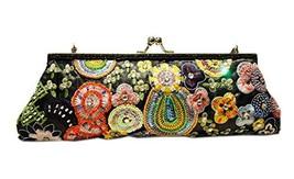 Vintage Embroidery Clutch Black Party Clutch Handbag image 2