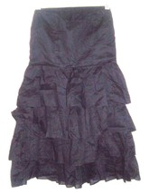 Sz 8 - Express Black Strapless Dress w/Ruffled Broomstick Skirt - $28.49