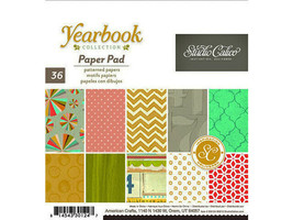 Studio Calico 6x6 Inch Yearbook Paper Pad #330124