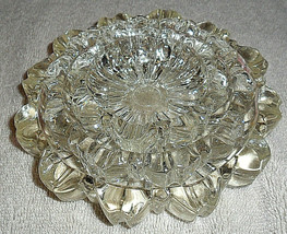 HAZEL ATLAS VTG 3 PC NESTING ASHTRAY SET CLEAR GLASS ROUND  FLUTED DESIG... - $7.91