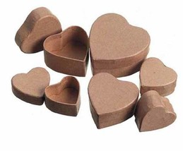 Darice Paper Mache Miniature Small Decoupage Box Set - Heart - 2pks/12pc. - $12.95