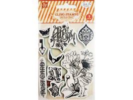 Prima Marketing Rubber Cling Stamp Set #950255