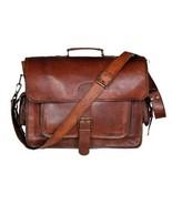 "New Men's 15"" Unisex Vintage Soft Leather Travel  Office Formal Handmade... - $56.09"