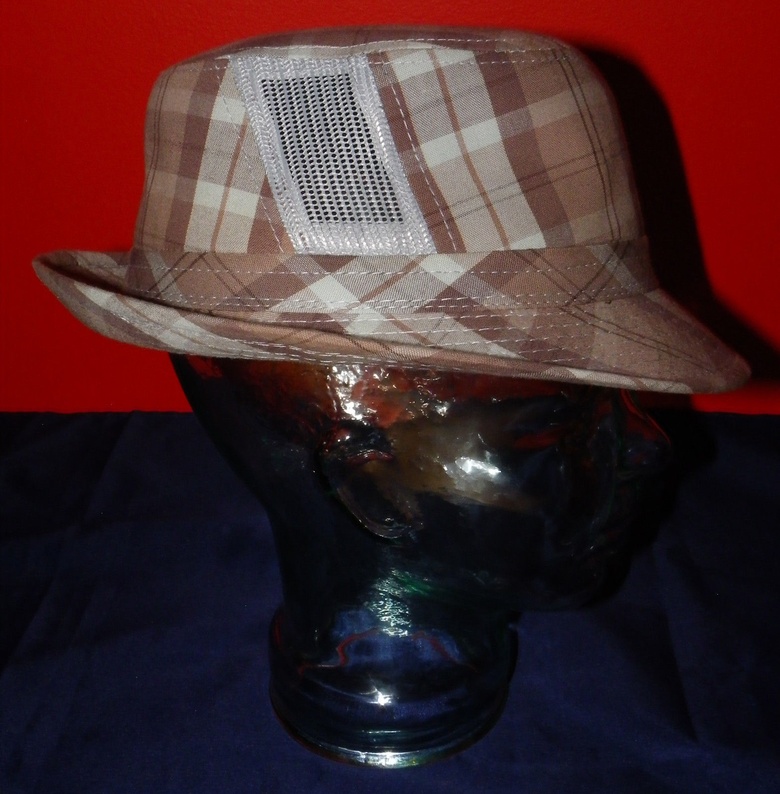 Dorfman Pacific Authentic Handmade Headwear Size M Warm Plaid Fedora Trilby image 4