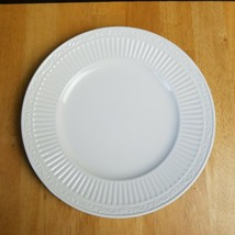 Mikasa Italian Countryside Salad Plate 8 1/2 Inches White Ribbed Scroll ... - $7.91