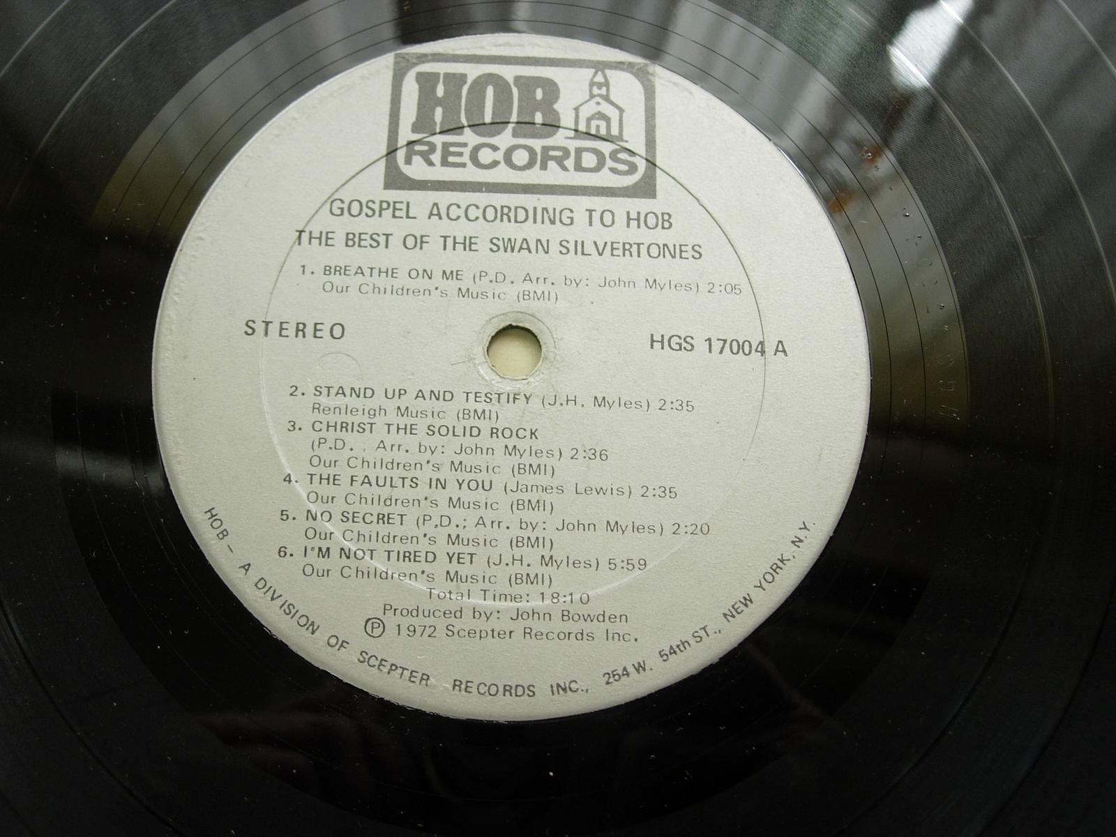 The Best of Swan Silvertones - Hob Records HGS 17004 - Black Gospel