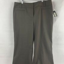 NWT Women's Apt 9 Dark Brown Dress Pants Size 14 Maxwell Fit Modern Fit ... - $14.85