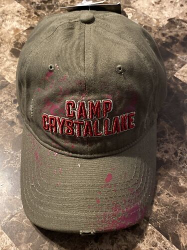 Primary image for Friday the 13th Camp Crystal Lake Frayed Hat Cap New With Tags