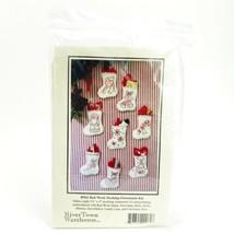 Mini Stocking Christmas Ornament Kit River Town Warehouse R962 Embroidery - $12.61