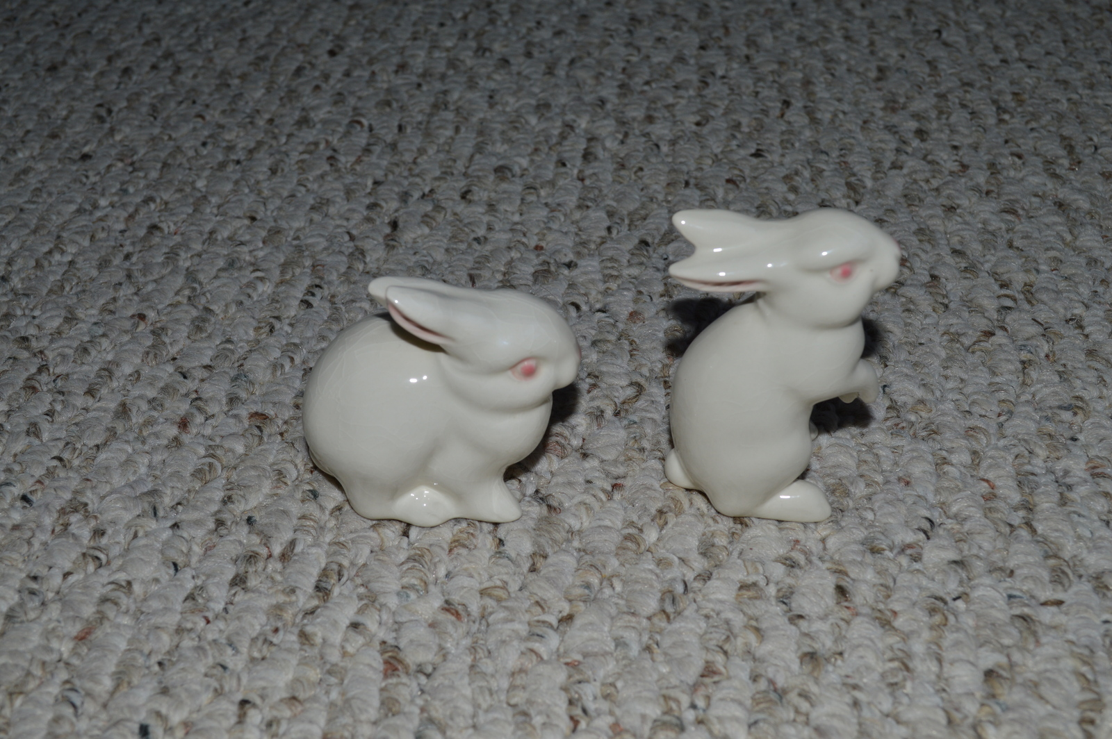 1970s Matching Pair Goebel Porcelain White Rabbits/Bunnies-Great for Easter