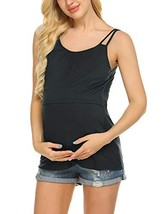 Ekouaer Women's Maternity Nursing Top Breastfeeding Tank Top Tee Shirt D... - $24.38