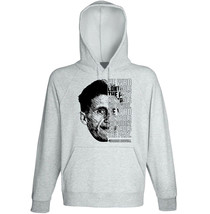 George Orwell - He Who Controls - New Cotton Grey Hoodie - $31.88