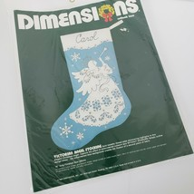 Vintage 1984 Dimensions Victorian Angel Stocking Cutlook Lace Kit 8045 C... - $14.85