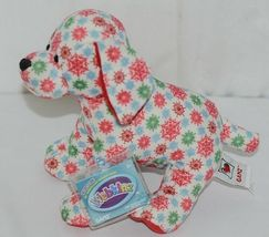 GANZ Brand Webkinz Collection HM691 Red Blue Green Color Snowflake Pup image 4