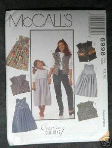 Primary image for 6998 McCalls Girls' Jumper and Vest