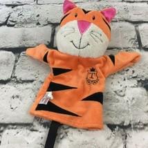 Manhattan Toy Co Tiger Cat Plush Hand Puppet Orange Striped Soft Toy  - $9.89