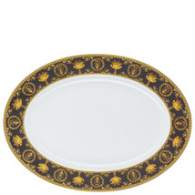 "Versace Baroque Nero Platter 40 cm/15"" Porcelain Made in Italy - $289.50"