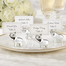 inch Lucky in Love inch   Silver-Finish Lucky Elephant Place Card/Photo... - $9.99