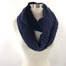 Apt 9 Loop Infinity Womens Neck Scarf Navy Blue Soft Velour Lined NEW - $19.79