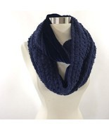 Apt 9 Loop Infinity Womens Neck Scarf Navy Blue Soft Velour Lined NEW - £14.36 GBP