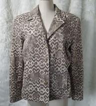 St. John Sport By Marie Gray Classic Jacket Suit 4 Button Front Aztec La... - $60.78