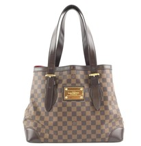 #33488 Louis Vuitton Hampstead Tote Mm Open Top Large Brown Canvas Shoul... - $800.00
