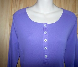 Ralph Lauren Purple Henley Ribbed Knit A-Line Dress Godot Hemline  NWT $... - $43.20