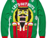 Hybrid Apparel Men's Ugly Christmas Sweater Nutcracker Let's Get Nuts, Medium