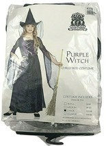 FRANCO Witch Costume Child Girls Large PURPLE Dress and hat Halloween - $10.30