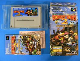 Donkey Kong Country 2 ~  in Box w/ Manual (Nintendo Super Famicom, 1995) - $19.33