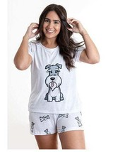 Dog Schnauzer pajama set with shorts for women - $30.00