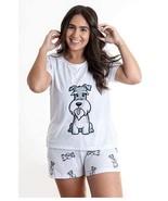 Dog Schnauzer pajama set with shorts for women - $30.00