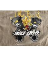 ski-doo racing team  t-shirt Rotax Flaming Pistons XPS BRP Large Rare Aw... - $20.90