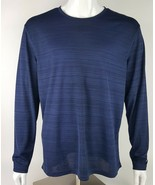Champion Mens Size XL Extra Large Athletic Top Dark Blue 100% Polyester ... - $11.29