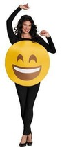 Emoticon Emoji Smiley Face Costume Adult Halloween Party Unique Funny DG... - €42,51 EUR