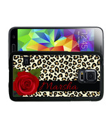 PERSONALIZED RUBBER CASE FOR iPAD 2 FOLD OVER LEOPARD PRINT ROSE - $19.99