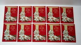 Vintage Hallmark Postcards, Peace Be Unto You, Bible Verse Christmas, Se... - $12.49