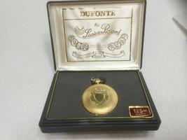Vintage Dufonte By Lucien Picard Quartz Pocket Watch Goldtone Unused In ... - $39.55