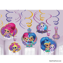 Shimmer and Shine Party Swirl Value Pack Supplies Decoration Ceiling Danglers 12 - $9.85