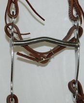 Courts Saddlery 110141 Leather Brow Bridle Curb Bit Reins Burgundy Color image 3