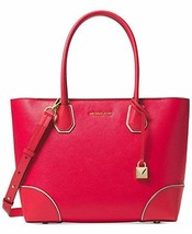 MICHAEL Michael Kors Mercer Gallery Medium East/West Top Zip Tote (Deep Pink)