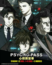 Psycho-Pass Season 1-3 (VOL.1-41END + 3 Movies) English Subtitle Ship From USA