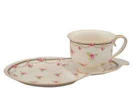 Gracie China by Coastline Imports Pink Petite Fleur Porcelain 2-Piece Sn... - $21.78