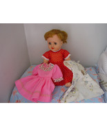 """Vintage 1950s-60s Quality Vinyl Drink & Wet Ponytail Doll w/Clothes 14"""" - $15.90"""