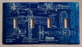 Fairey Swordfish MK-2 Bomber Plane Switch Outlet wall Cover Plate Home Decor image 6