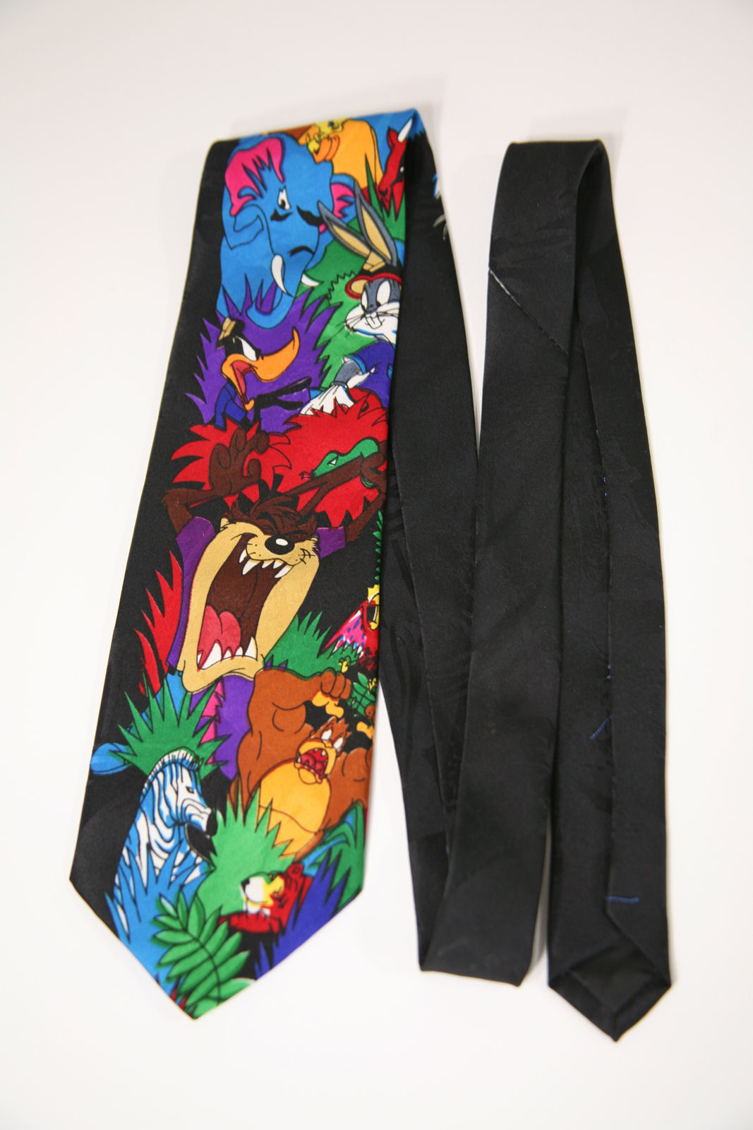 Primary image for Looney Tunes Taz Daffy Duck Sylvester Bugs Bunny Animals Novelty Neck Tie Zebra