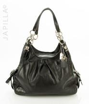 Coach 15742 Madison Maggie Mia Black Leather Shoulder bag satchel purse - $127.71