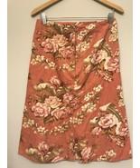 Live a Little Women's Skirt 8 Floral Corduroy Floral Print A Line Pink - $11.87