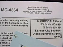 Microscale Decals Stock #MC-4364 Kansas City Southern Handrail Stripes Yellow HO image 1